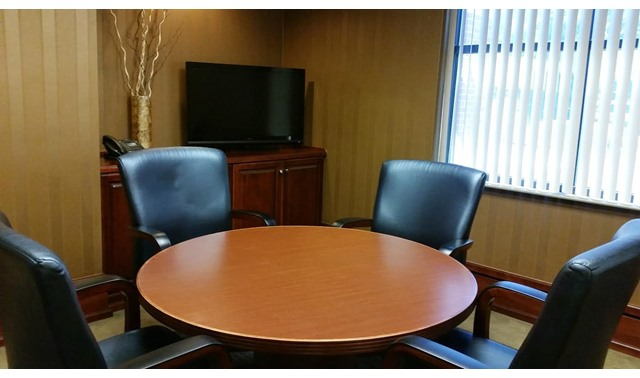 Small Conference Room In Peachtree Corners Office Suites At - Corner conference table