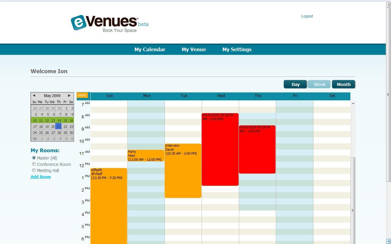 Space management software for Wedding venue software